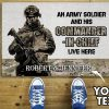 Personalized An Army Soldier And His Commander In Chief Live Here Doormat