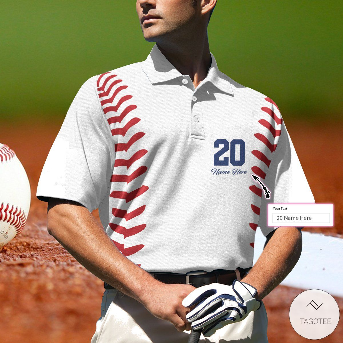 Personalized Baseball Name And Number Polo Shirtzz