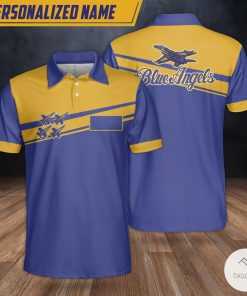 Personalized Blue Angels Polo Shirt