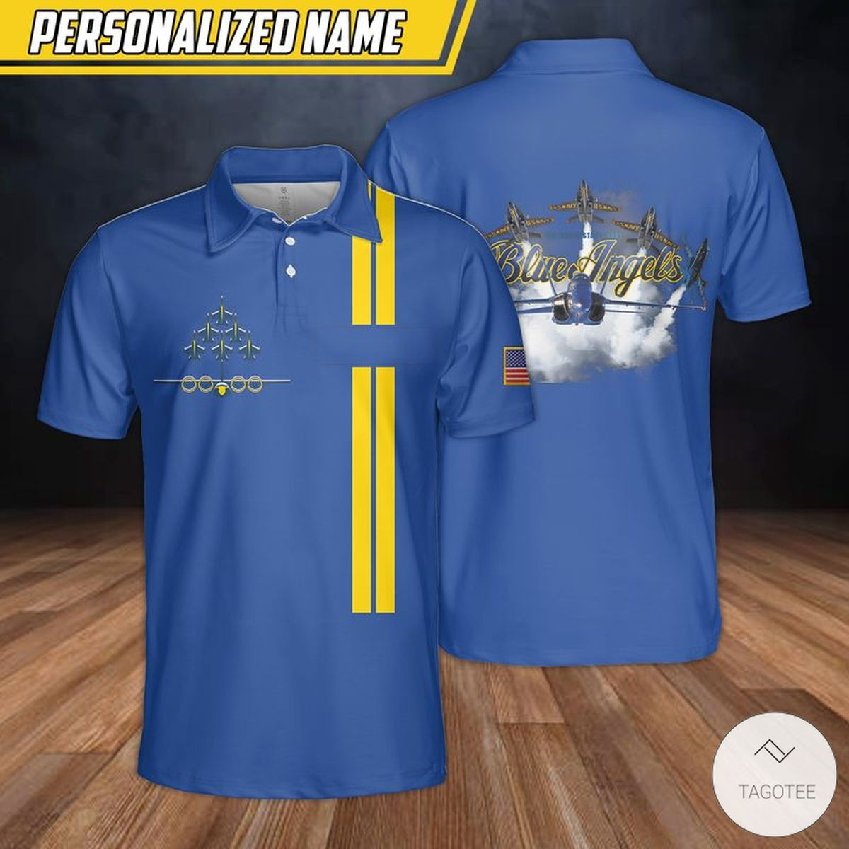 Personalized Blue Angels Us Navy Polo Shirt