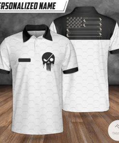 Personalized Custom Name Golf USA Polo Shirt