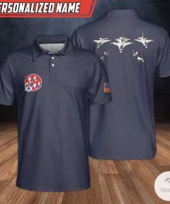 Personalized Custom Name Thunderbirds USAF Polo Shirt