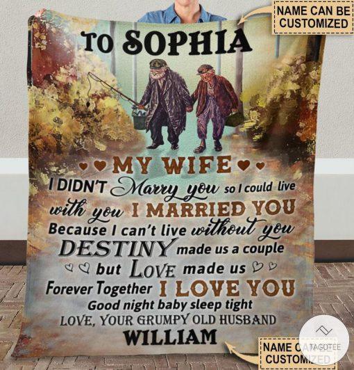 Personalized Fishing My Wife I Didn't Marry You So I Could Live Fleece Blanket x