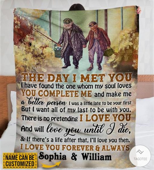 Personalized Fishing The Day I Met You I Have Found The One Whom My Soul Loves Fleece Blanket