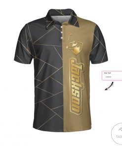 Personalized Golden Lines Golf Polo Shirt