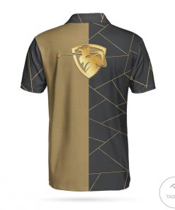 Personalized Golden Lines Golf Polo Shirtz