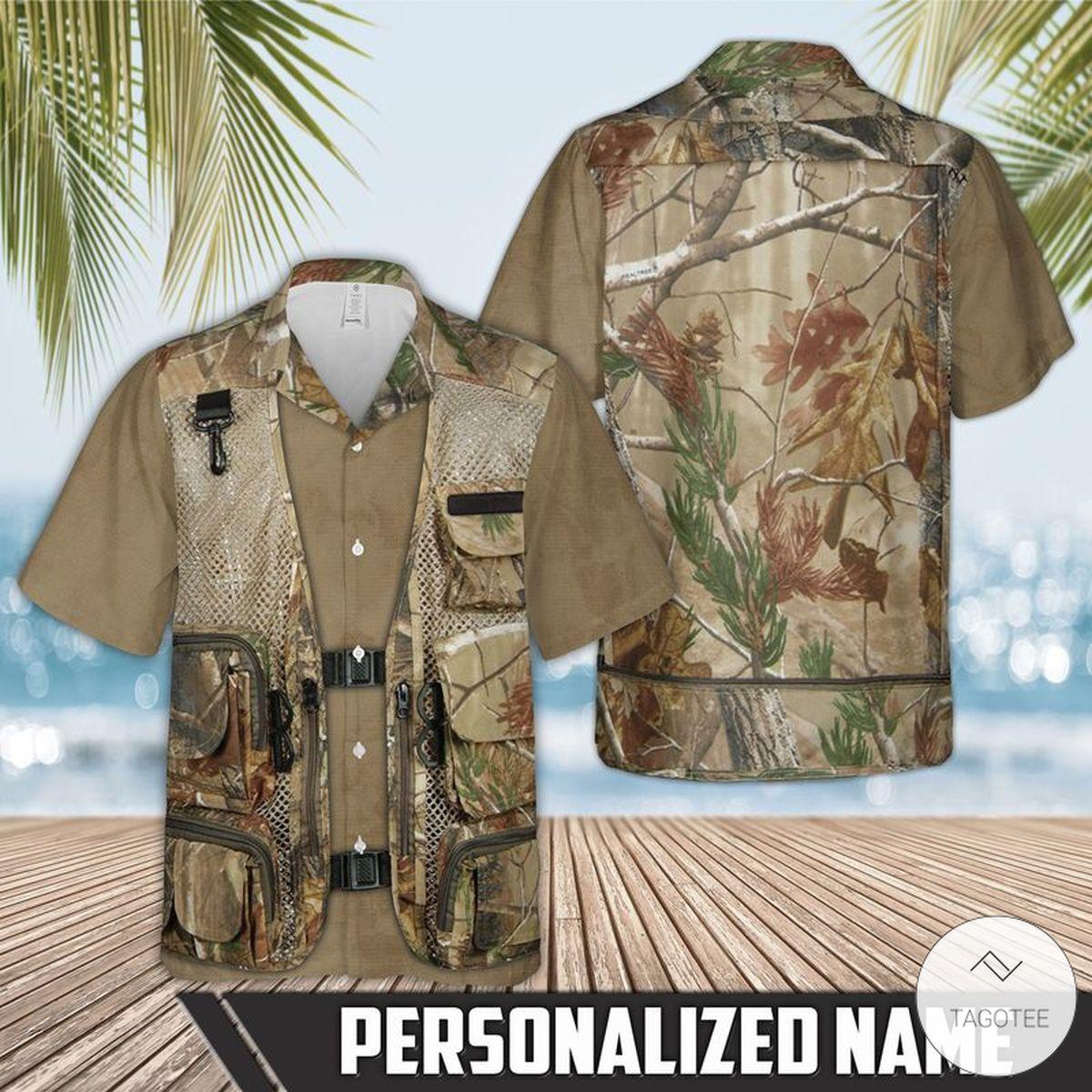 Personalized Hunting Tactical Camo Vest Hawaiian Shirt