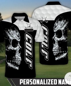 Personalized Skull Golf Polo Shirt