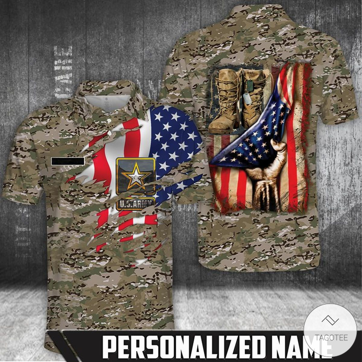 Personalized US Army Polo Shirt