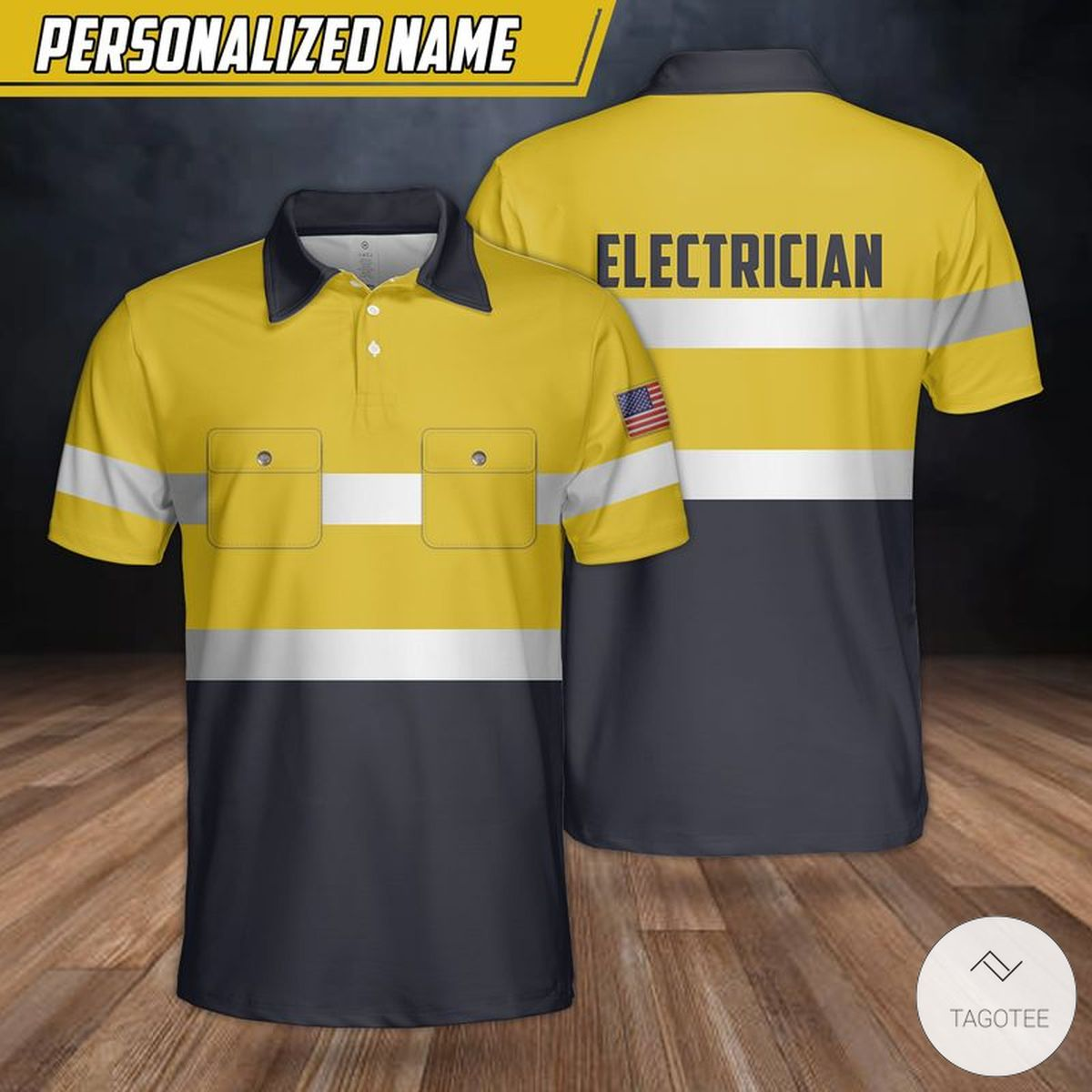 Personalized US Electrician Polo Shirt