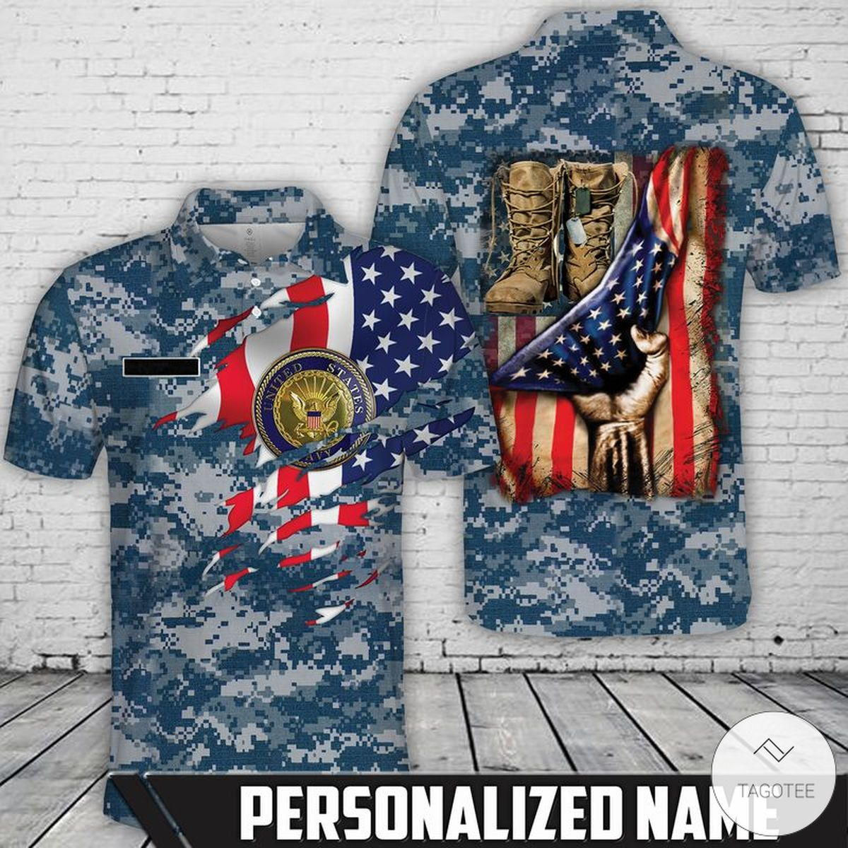 Personalized US Navy Polo Shirt