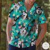 Siberian Husky Tropical Hawaiian Shirt