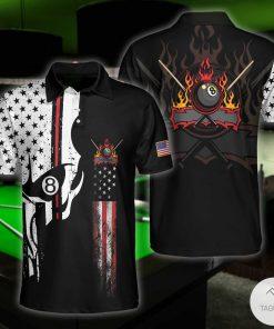 Skull Billiards Pool Polo Shirtc