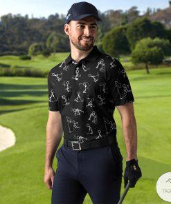 Stickfigures Playing Golf Polo Shirtx