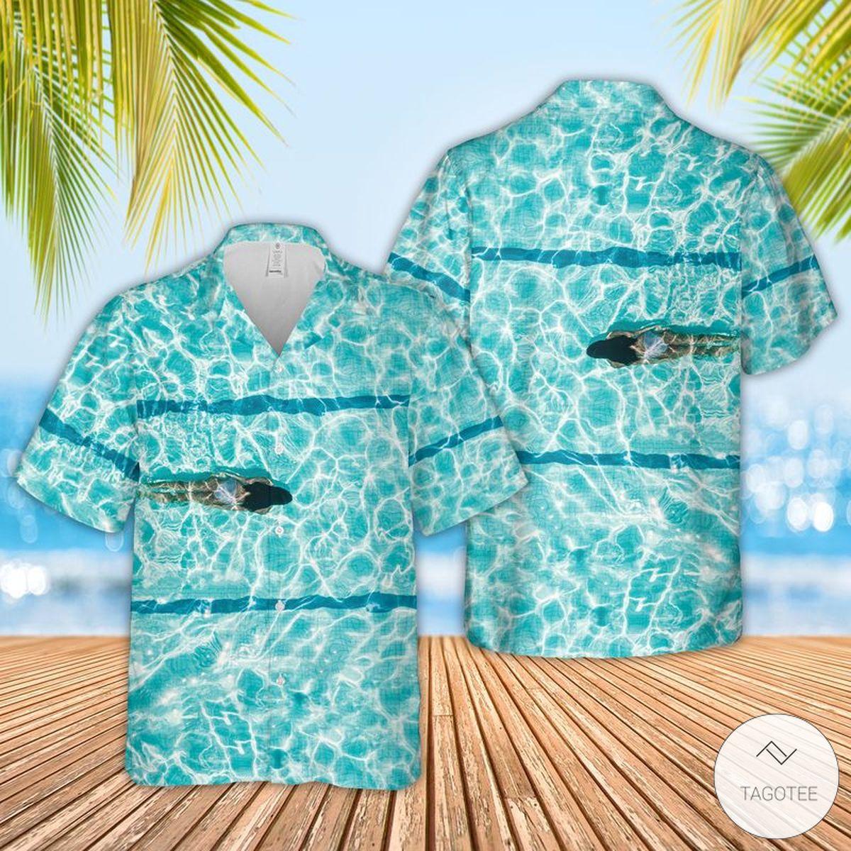 Swimming Girl Hawaiian Shirt