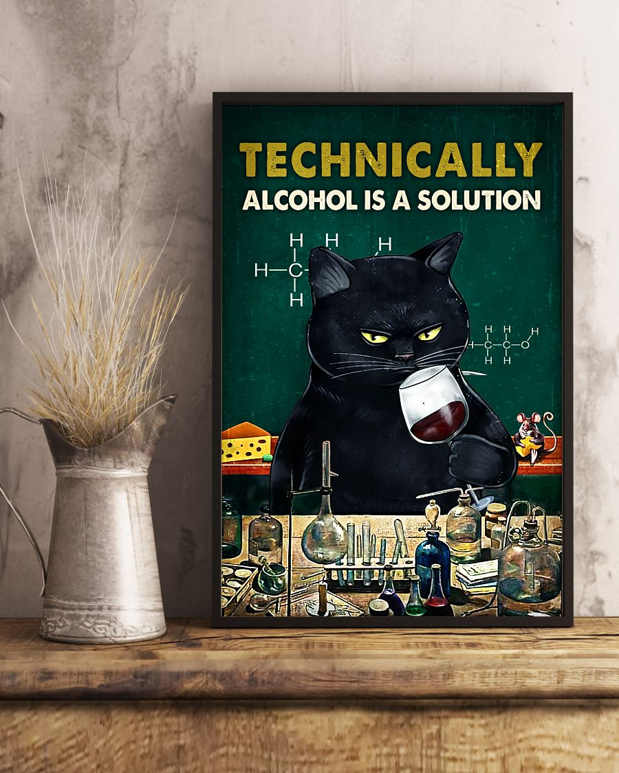 Technically Alcohol Is A Solution Posterx