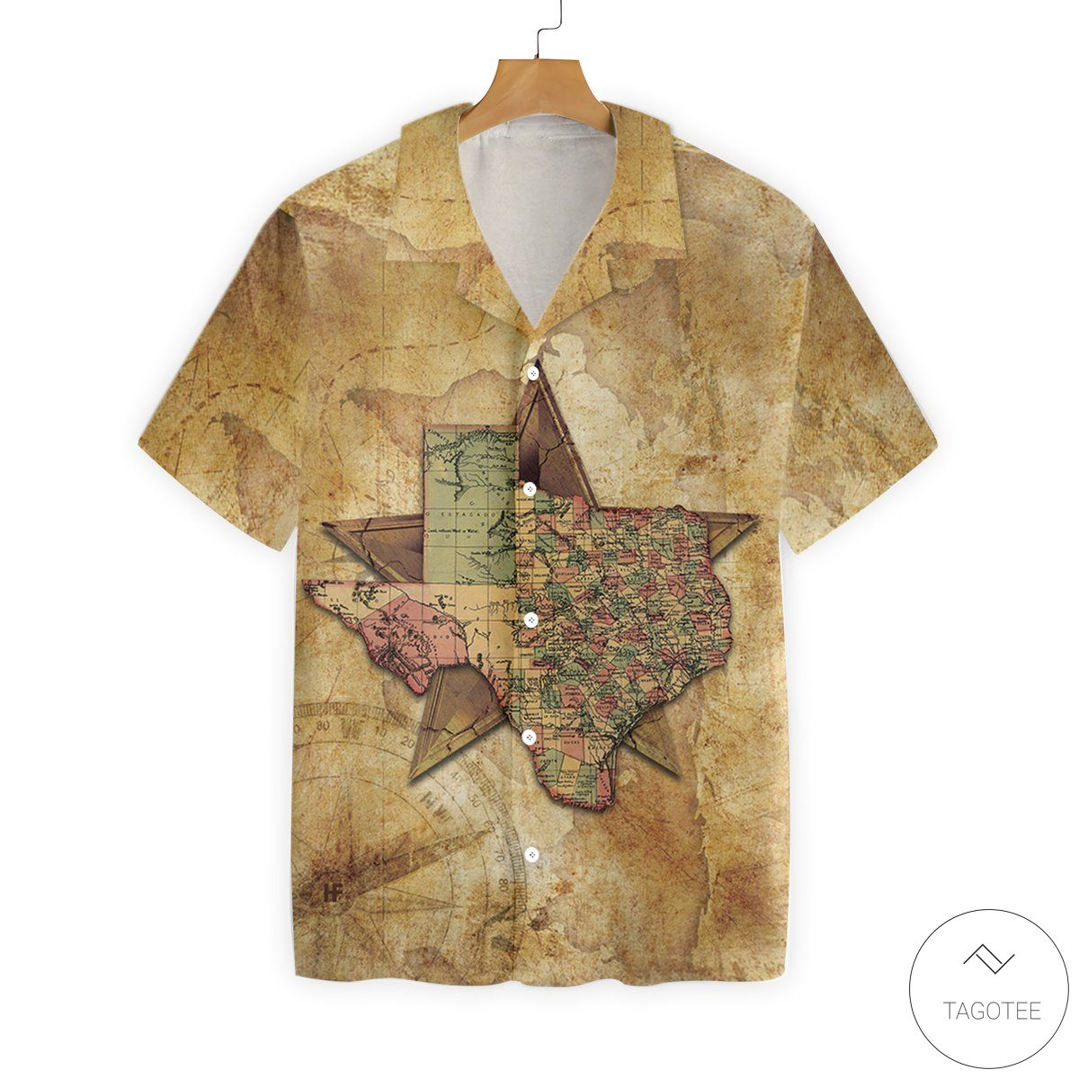Texas Map The Lone Star National Hawaiian Shirt