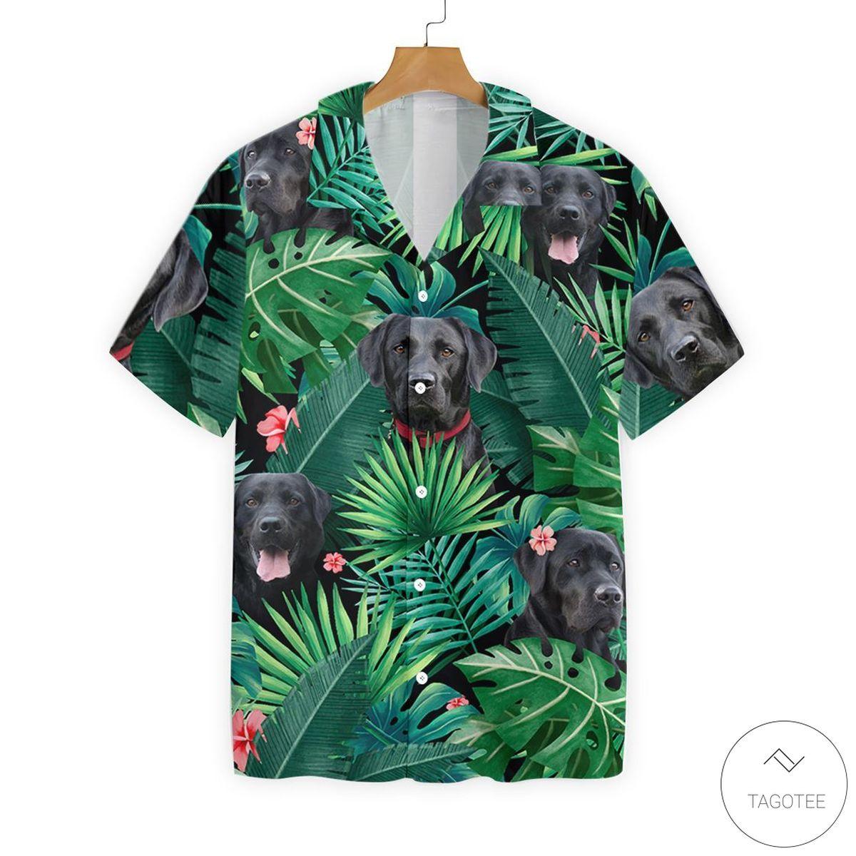 Tropical Labrador Button Hawaiian Shirt