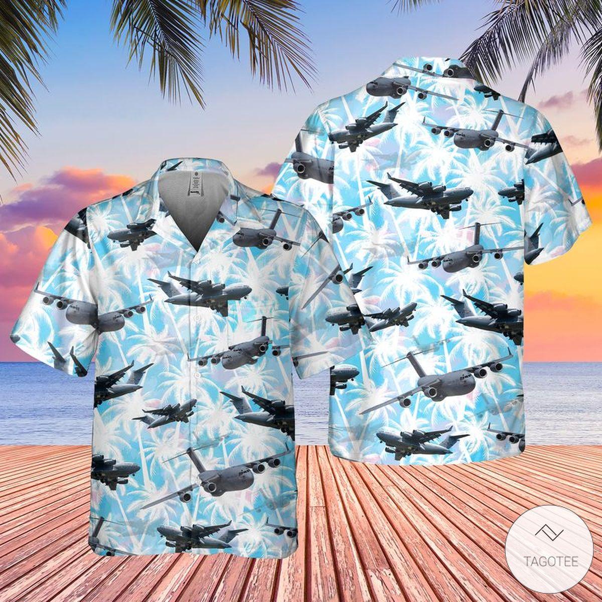 Real US Air Force Boeing C-17 Globemaster III Hawaiian Shirt, Beach Shorts