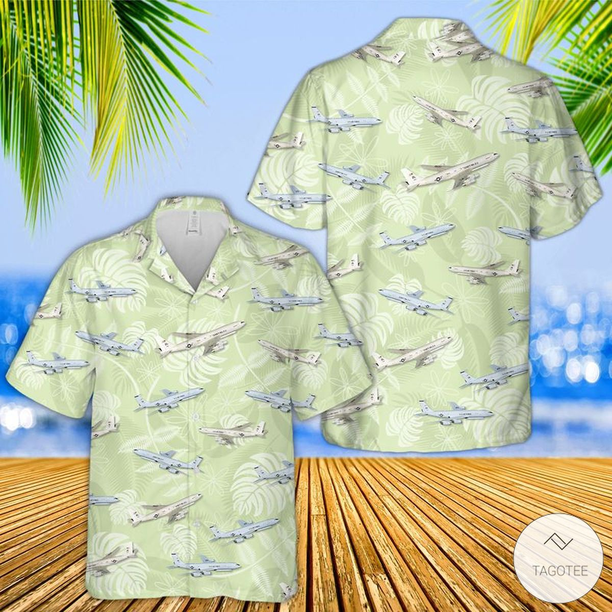 US Air Force Northrop Grumman E-8 Joint STARS Hawaiian Shirt, Beach Short