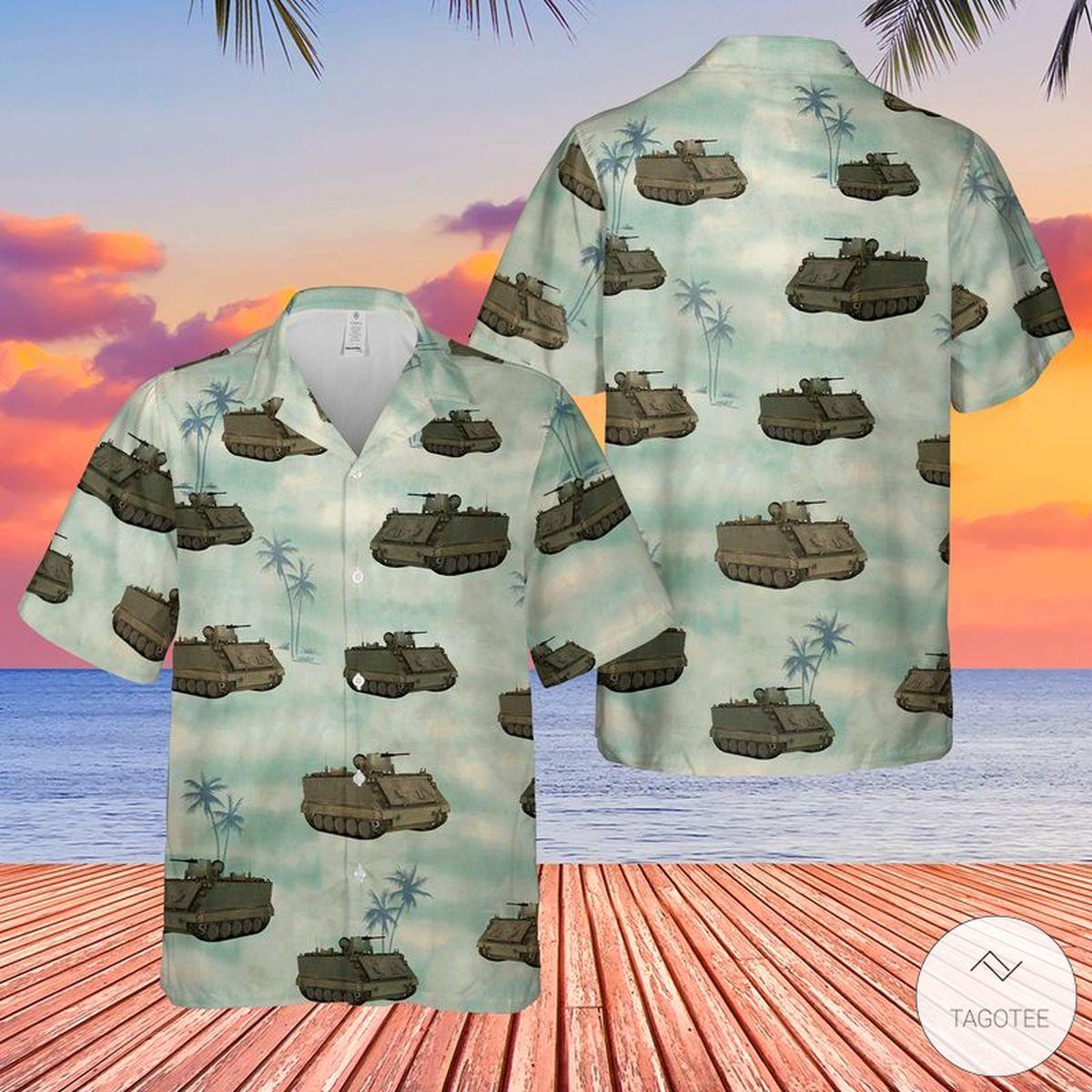 US Army M-113 Tank Hawaiian Shirt, Beach Shorts