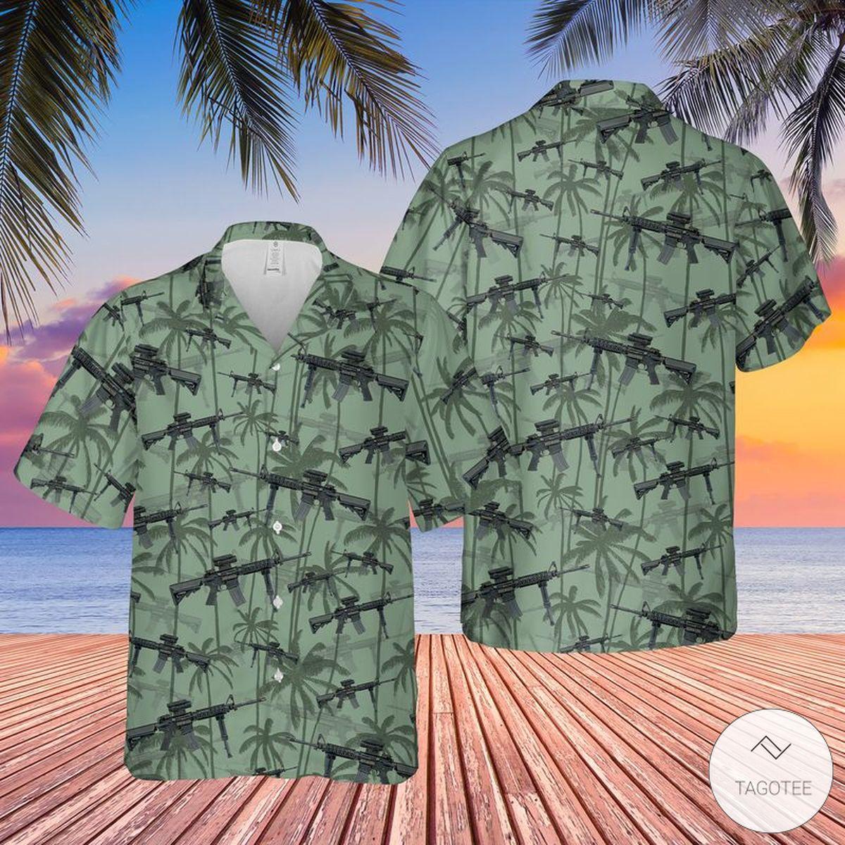US Army M4 Carbine Hawaiian Shirt