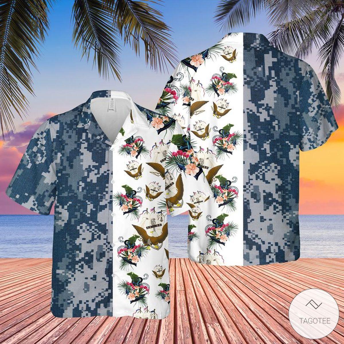 US Navy Hawaiian Shirt
