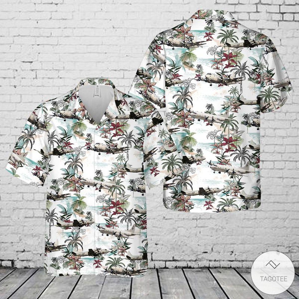 US Navy Lockheed P-3 Orion Hawaiian Shirt, Beach Shorts