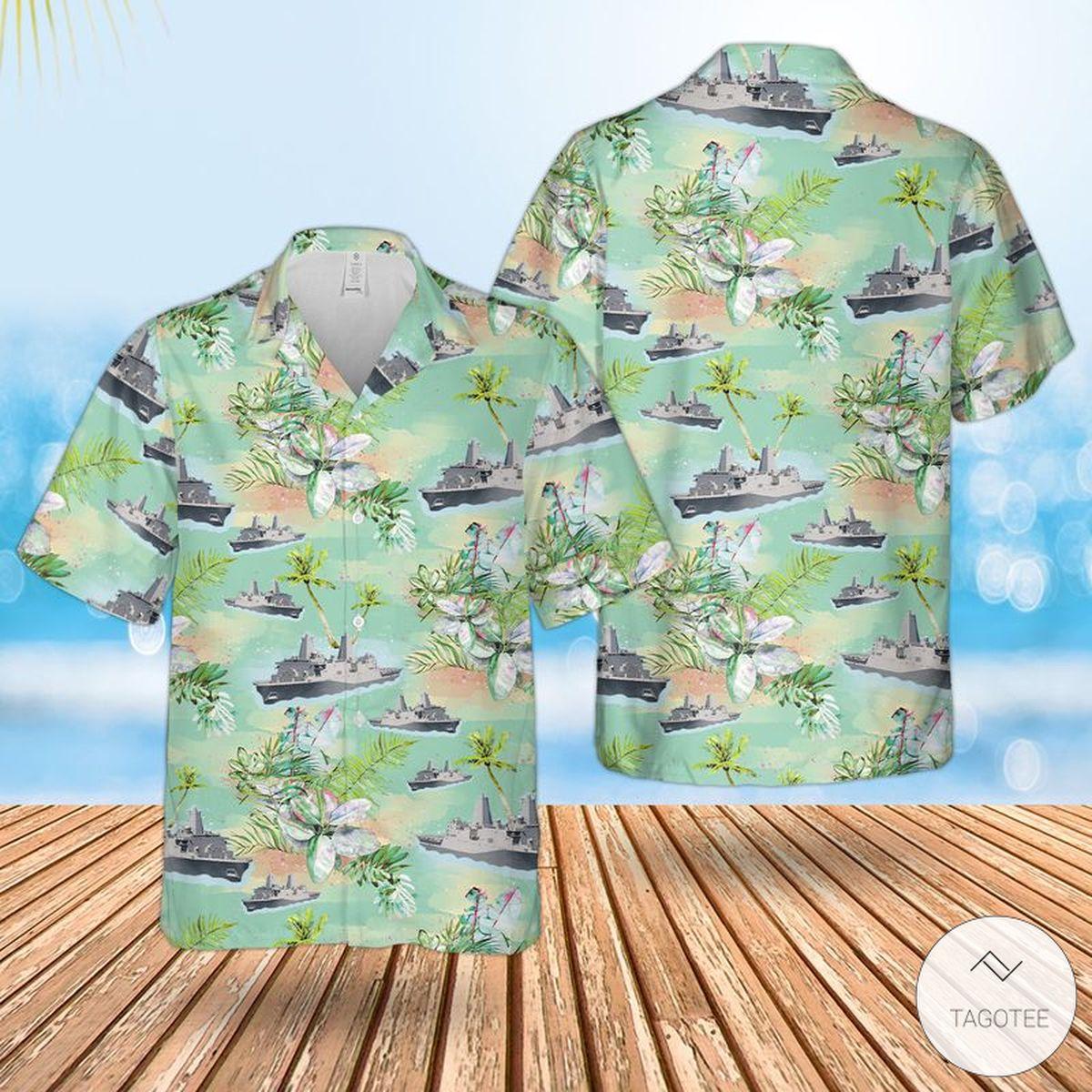 US Navy USS Green Bay (LPD-20) Hawaiian Shirt, Beach Shorts