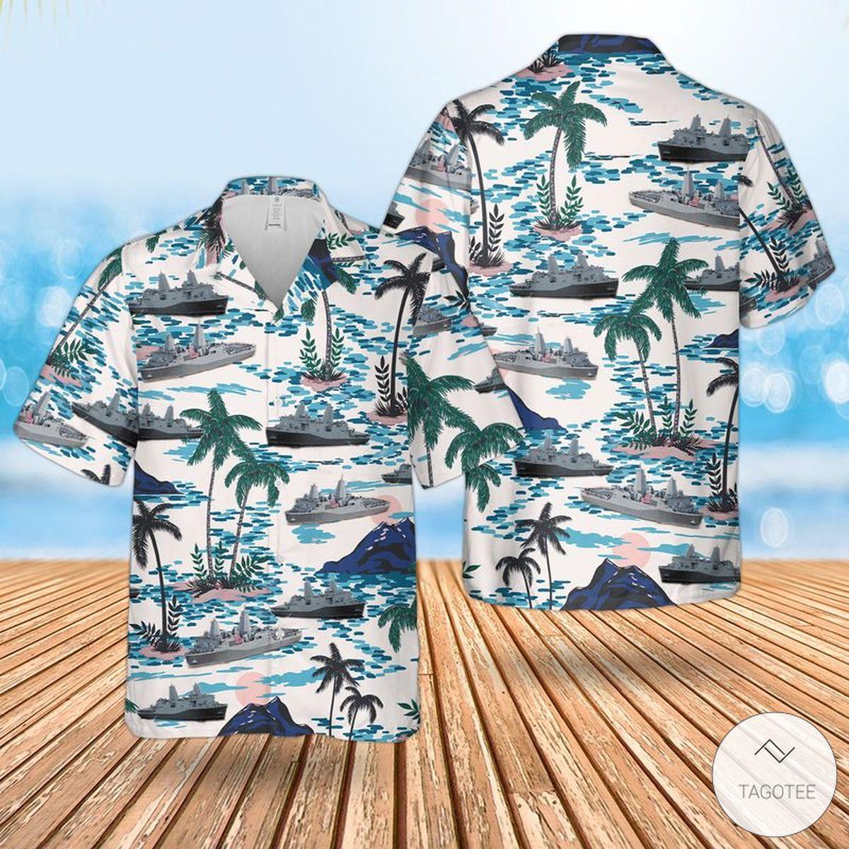 US Navy USS New York (LPD-21) Hawaiian Shirt, Beach Shorts