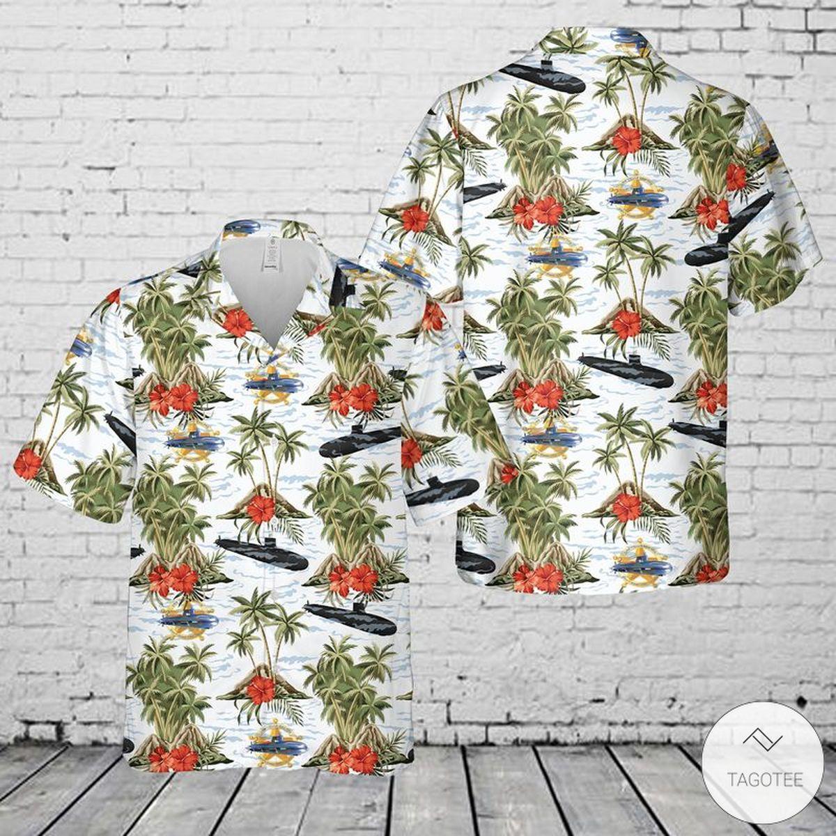 US Navy USS Texas (SSN-775) Hawaiian Shirt, Beach Shorts