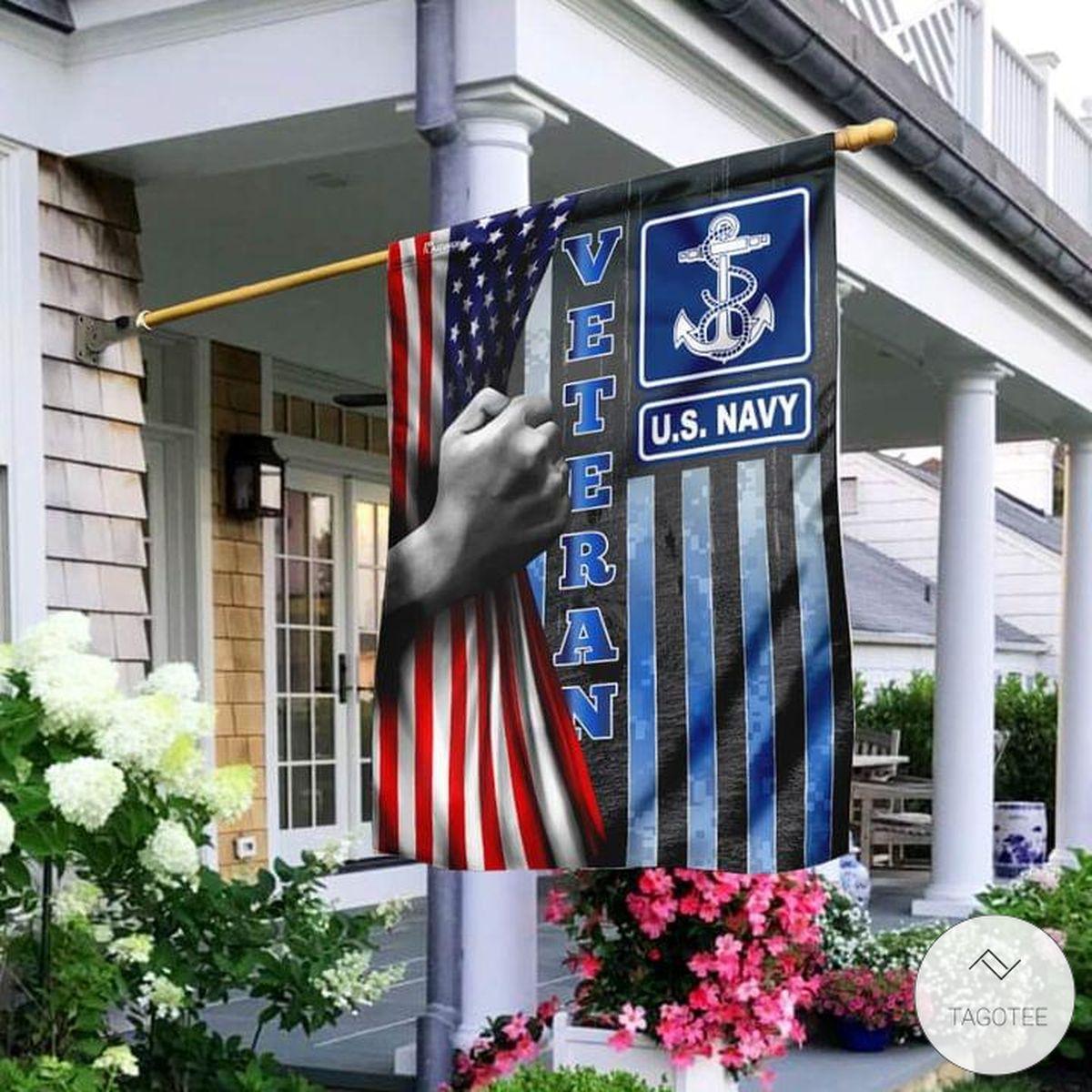 US Navy Veteran Flag