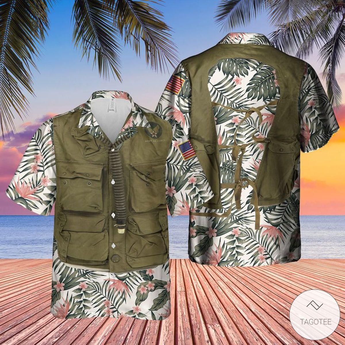 USAF Sustenance Survival Vest Hawaiian Shirt