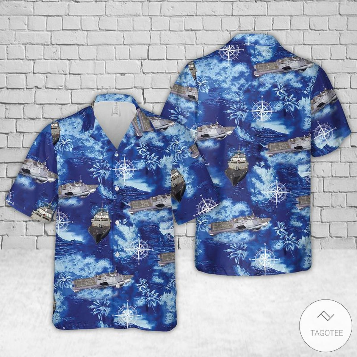 USS Freedom (LCS-1) Hawaiian Shirt, Beach Shorts