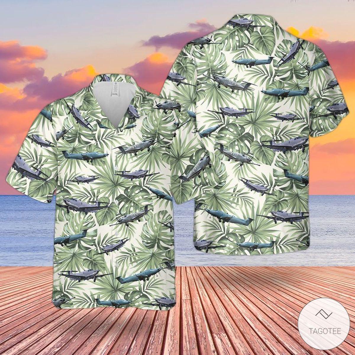 United States Air Force Pilatus U-28A Draco Hawaiian Shirt, Beach Short