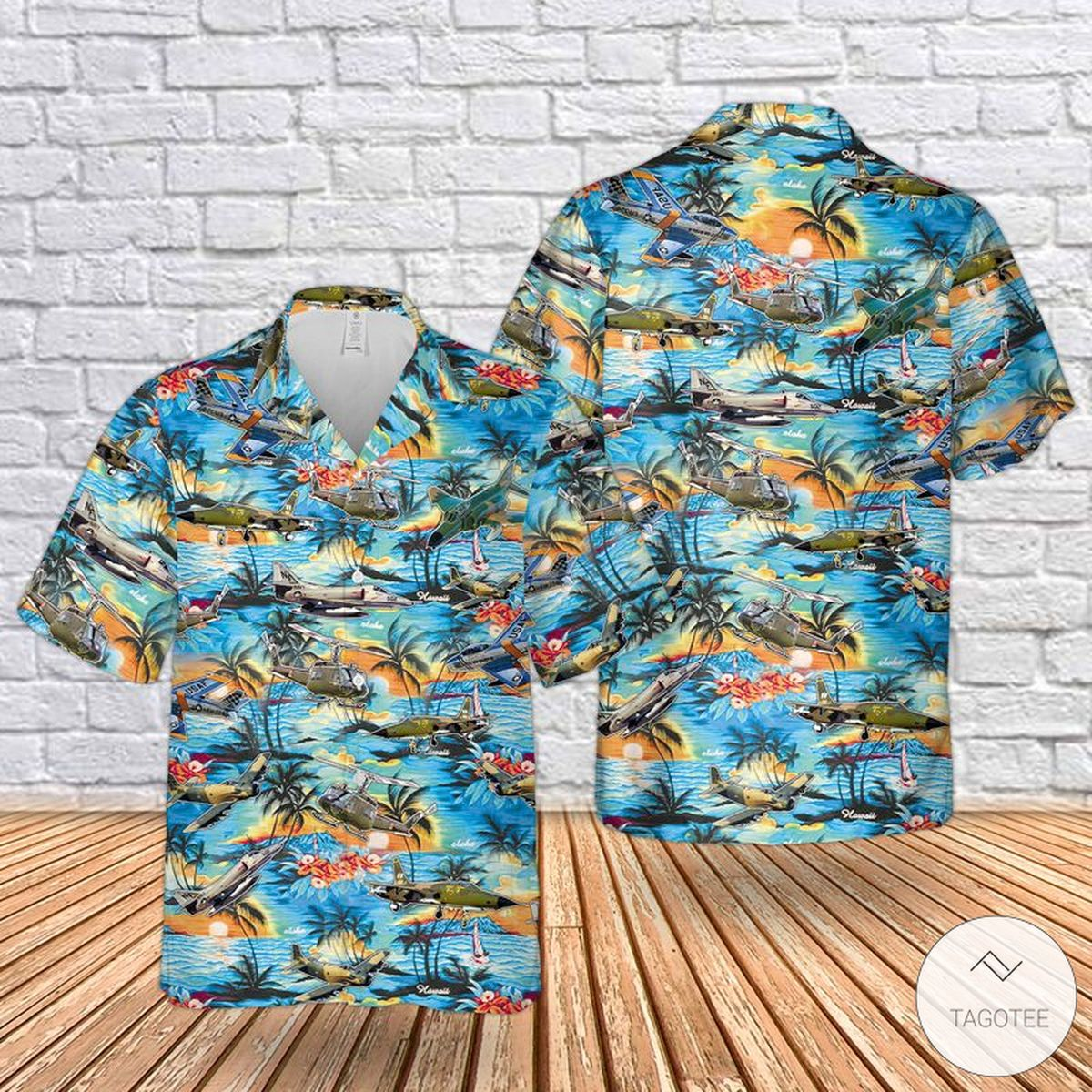 United States Armed Forces Aircraft Hawaiian Shirt, Beach Shorts