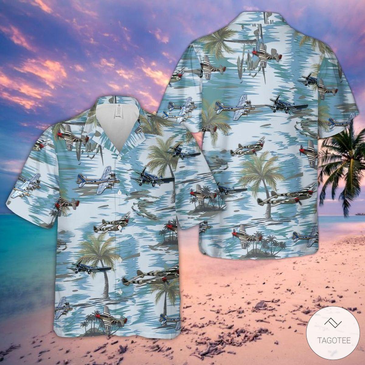 Us Air Craft 4th of July Hawaiian Shirt