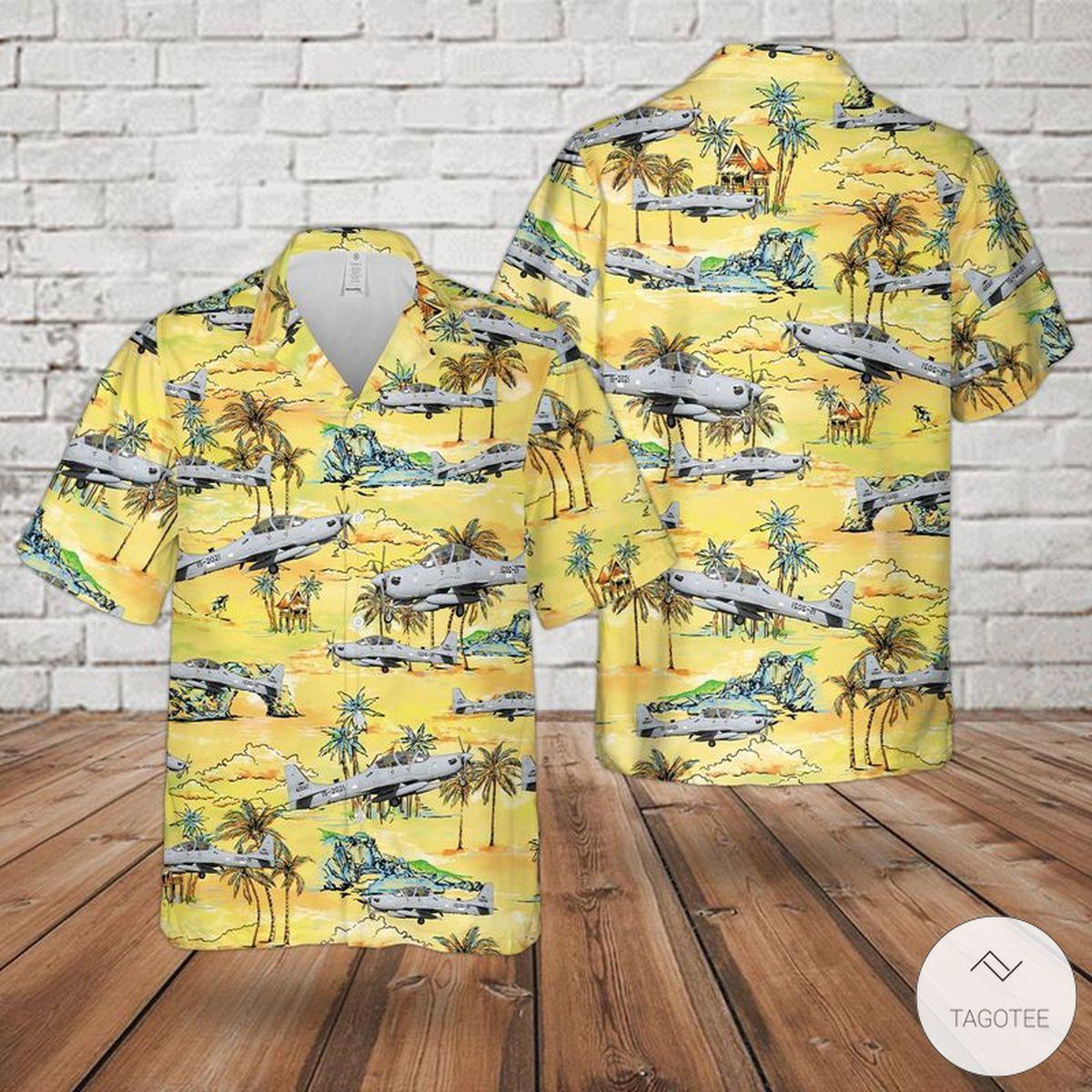 Us Air Force Embraer A-29 Super Tucano Hawaiian Shirt, Beach Shorts