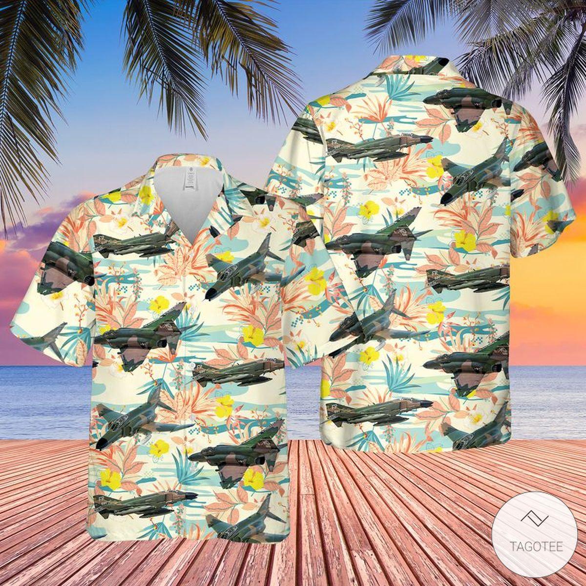 Us Air Force McDonnell Douglas F-4 Phantom II Hawaiian Shirt, Beach Shorts
