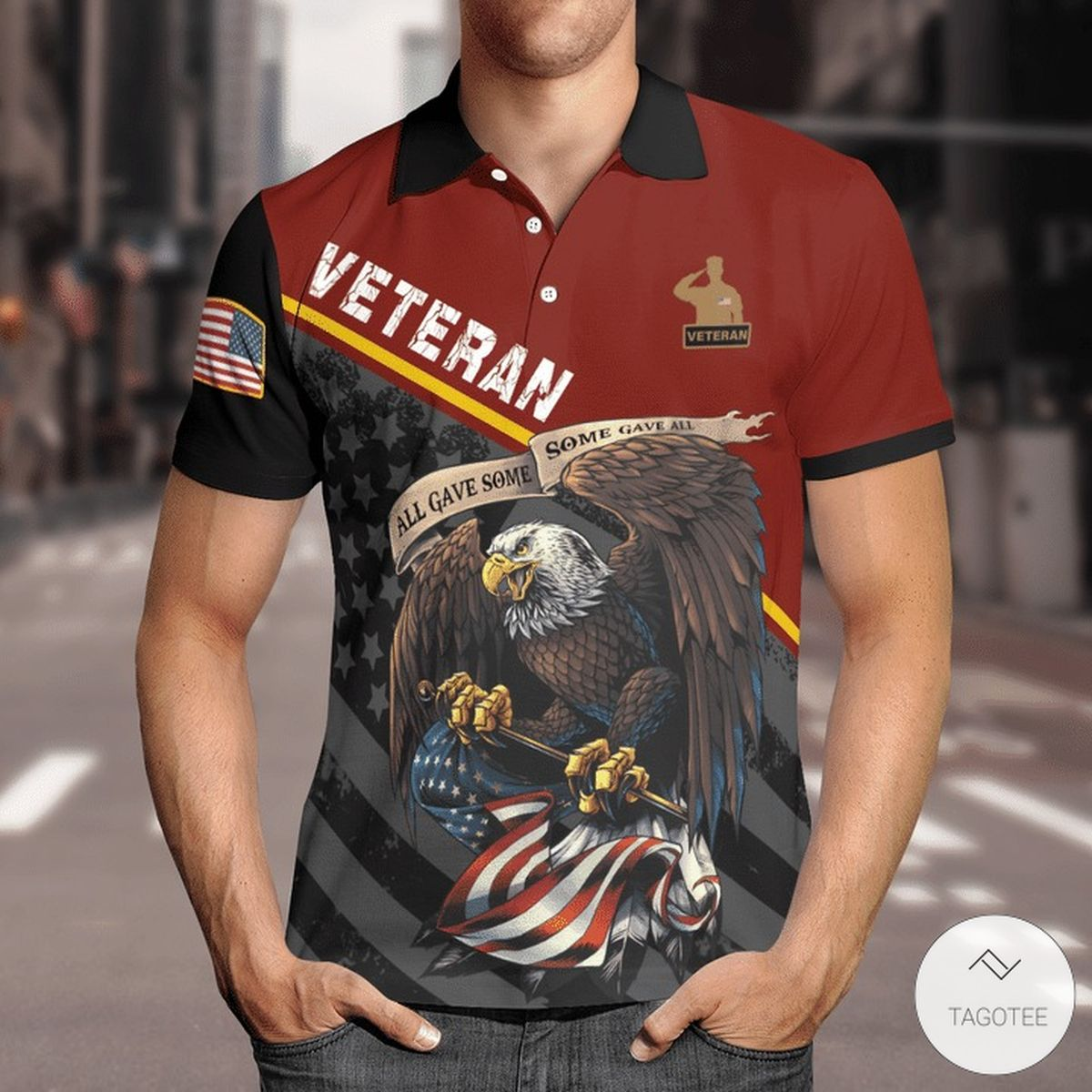 Veteran All Gave Some Some Gave All Polo Shirt