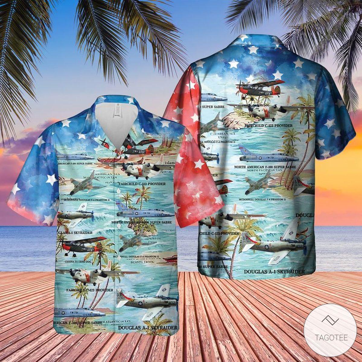 Vietnam Era Fixed Wing Aircraft Hawaiian Shirt