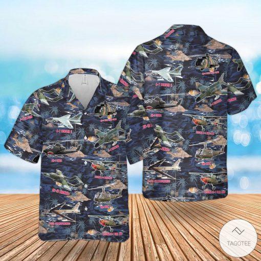 Vietnam War Airplanes And Helicopters Hawaiian Shirt