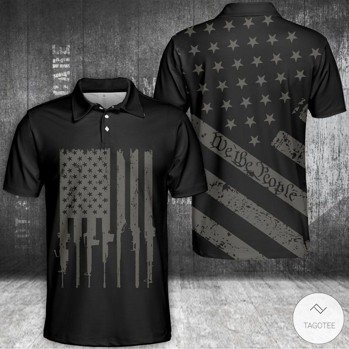 We The People US Flag Polo Shirt