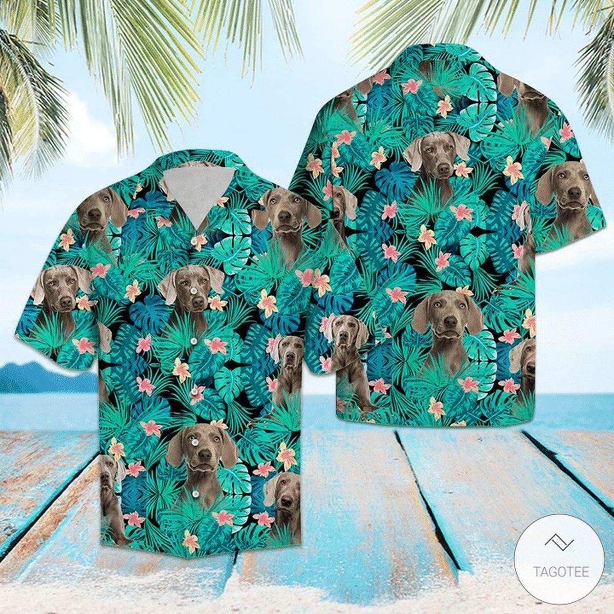 Weimaraner Tropical Hawaiian Shirt