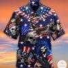 Where We Go One We Go All Patriotic Skull Hawaiian Shirt