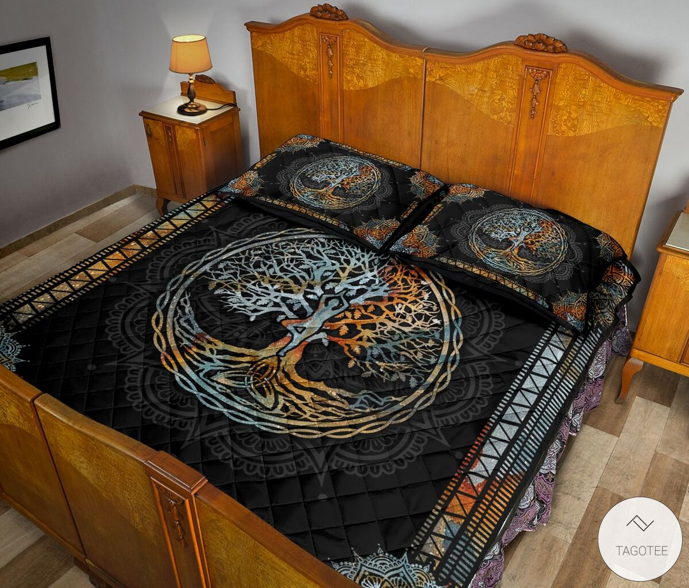 Yoga Tree Mandala Quilt Bedding Setc