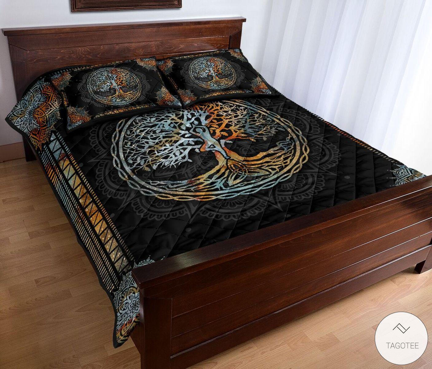 Yoga Tree Mandala Quilt Bedding Setx