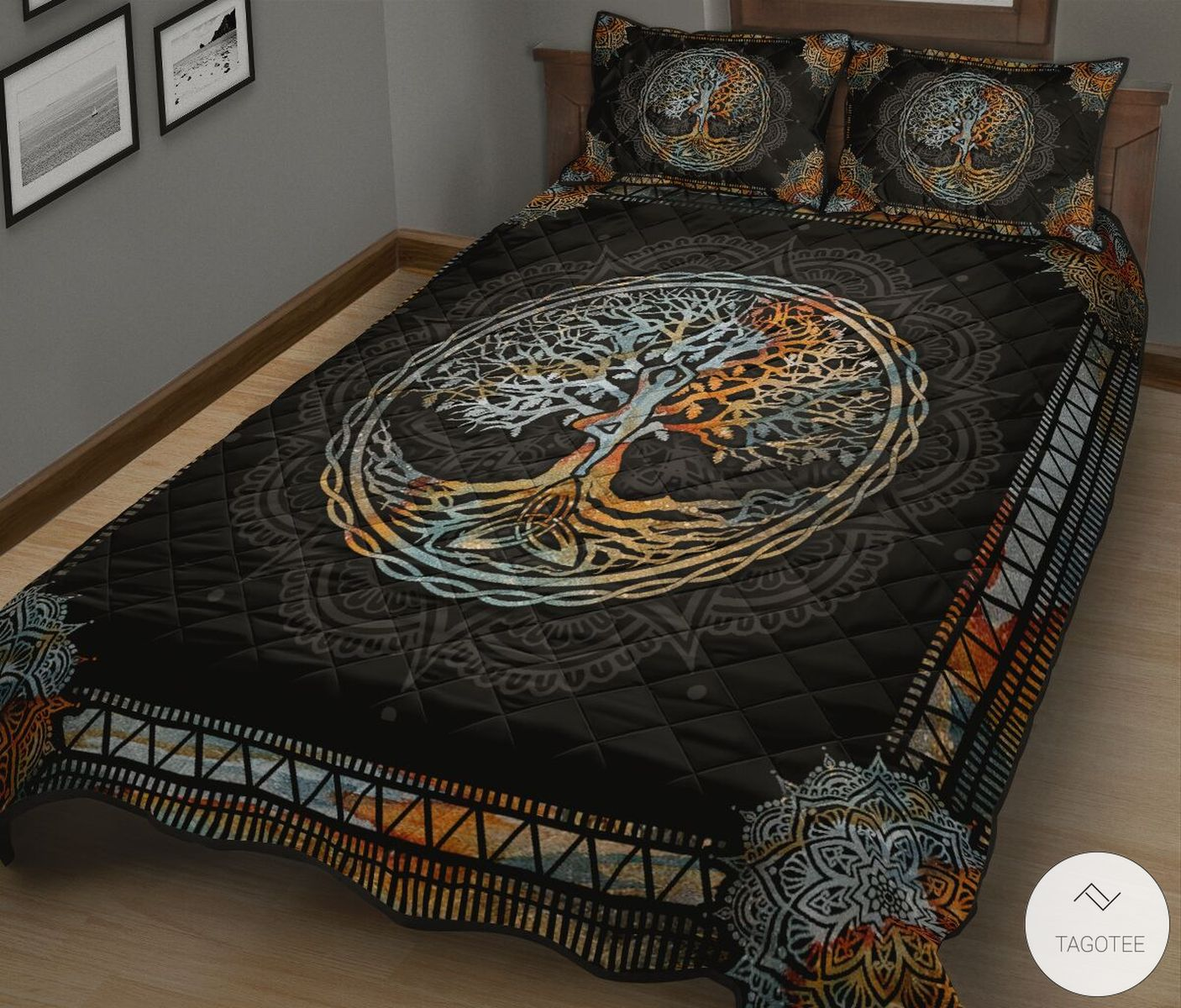 Yoga Tree Mandala Quilt Bedding Setz