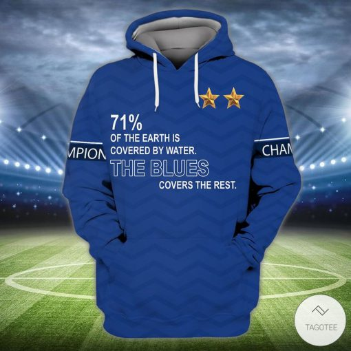 71% Of The Earth Is Covered By Water The Blues Covers The Rest 3D Hoodie, Hawaiian Shirtz