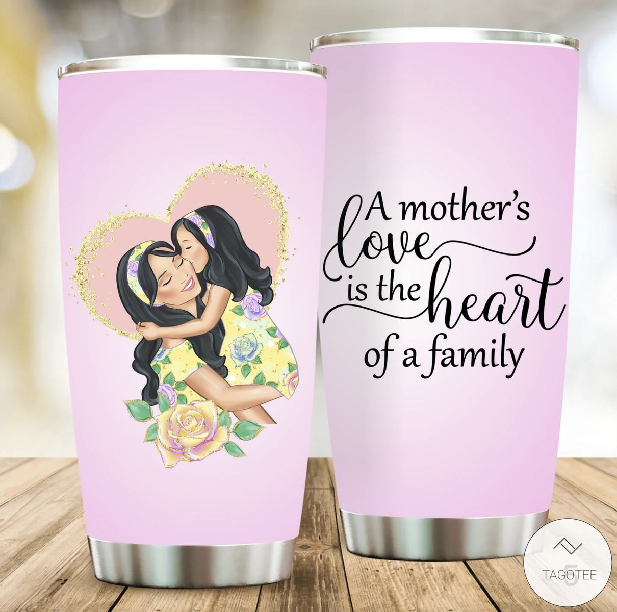 A Mother's Love is Heart of A Family Tumbler